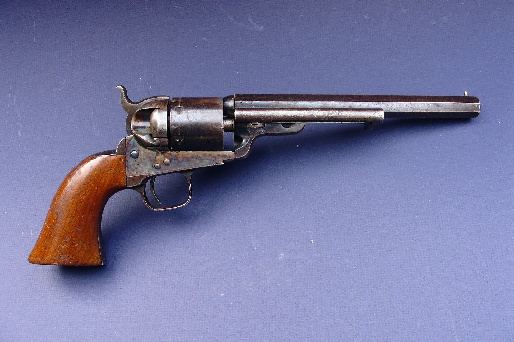 Colt jus post caps and ball 1851 Colt-1851-navy-conversion-revolver-london-pistol-38-rimfire-richards-mason-antique-guns-11