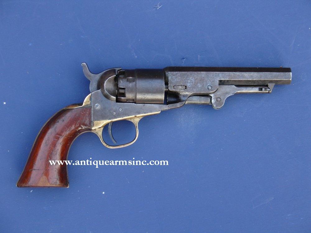 antique arms inc colt model 1862 pocket navy revolver mfd in