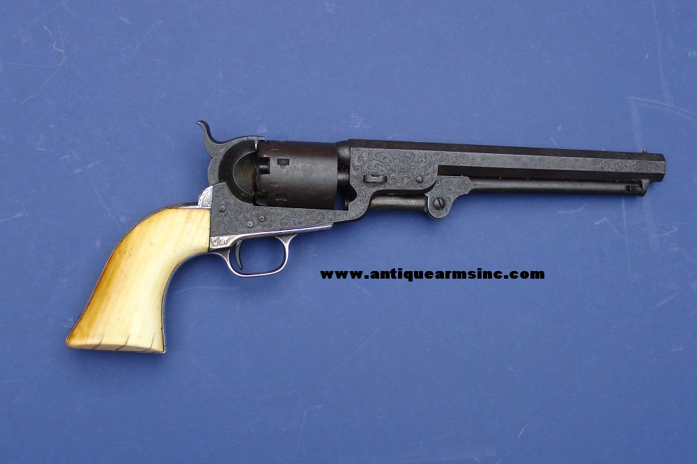antique arms inc factory engraved colt 1851 navy revolver w history