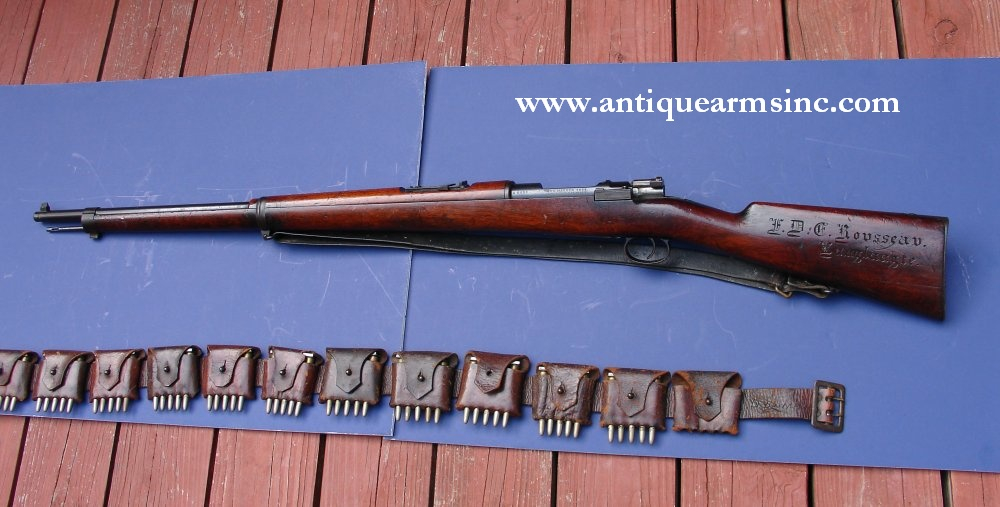 Antique Arms, Inc  - Mauser 1896 Boer War ID'd and Carved w/ Orig
