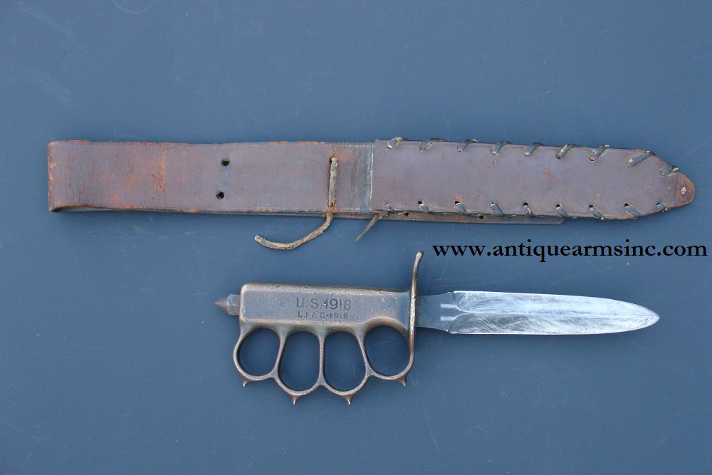 Antique Arms Inc Us Model 1918 Lf Amp C Trench Knife Id D